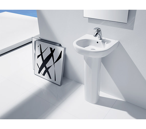 Additional image of Roca Meridian-N Cloakroom Wall Hung Basin 450mm Wide - 327245000