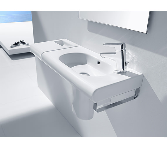 Additional image of Roca Meridian-N Wall Hung Basin 850mm Wide - 32724D000
