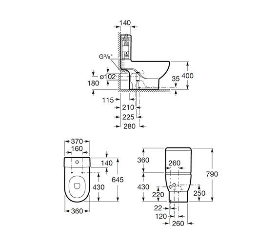 Technical drawing QS-V55526 / 342247000
