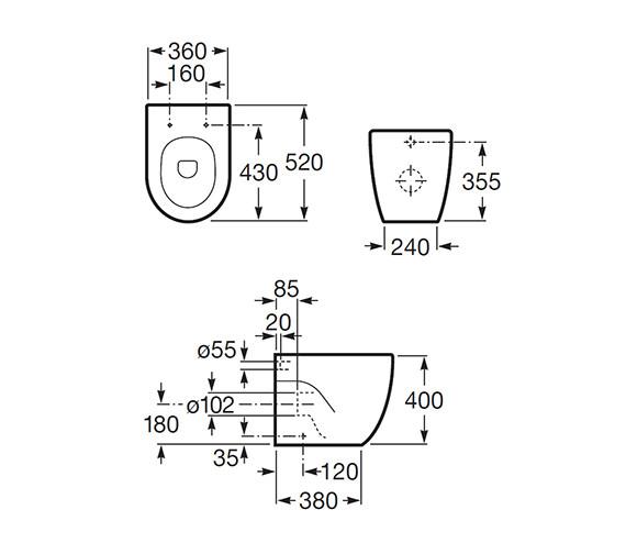 Technical drawing QS-V55527 / 347247000
