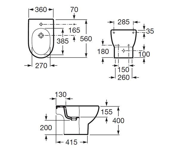 Technical drawing QS-V55529 / 357244000