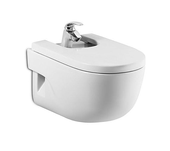 Roca Meridian-N Wall Hung Over-Rim Bidet 560mm With Cover - 357245000