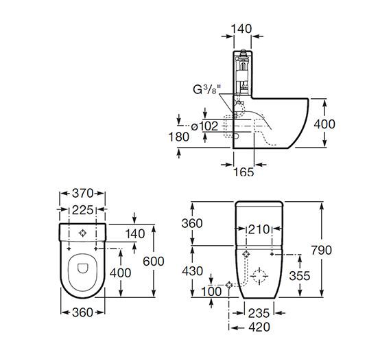 Technical drawing QS-V55536 / 342248000