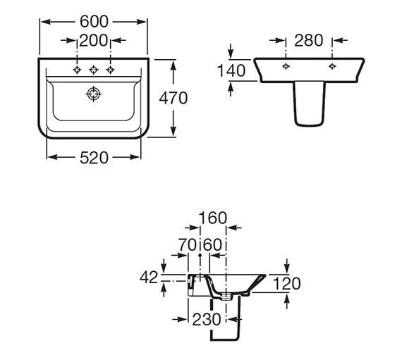 Technical drawing QS-V55550 / 327474000
