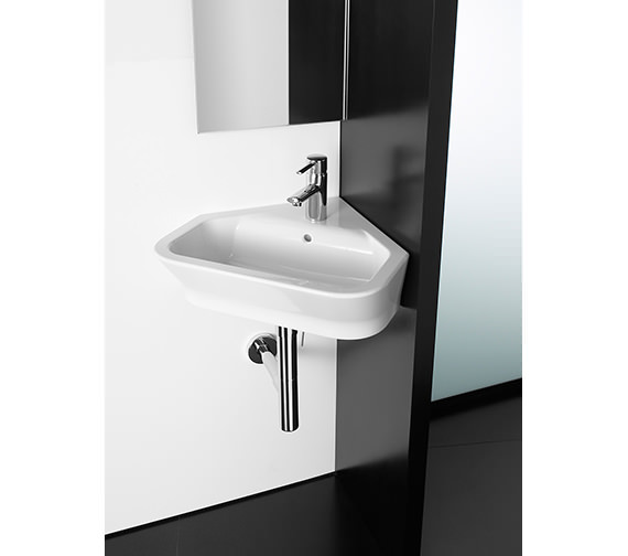 Roca The Gap White Corner Basin 480mm Wide - 32747R000