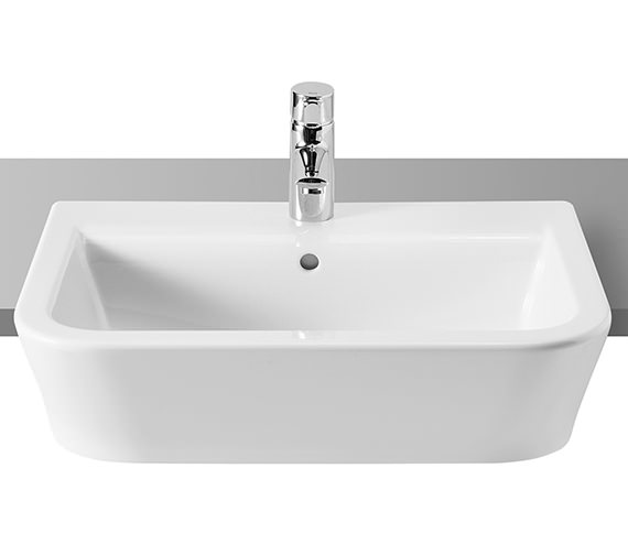 Roca The Gap White Semi-Recessed Basin 560mm Wide - 32747S000