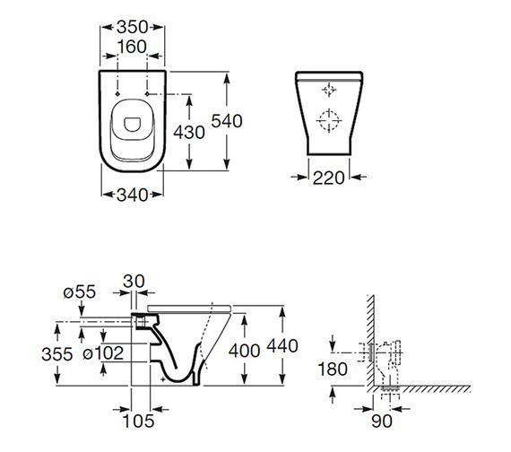 Technical drawing QS-V55559 / 347477000