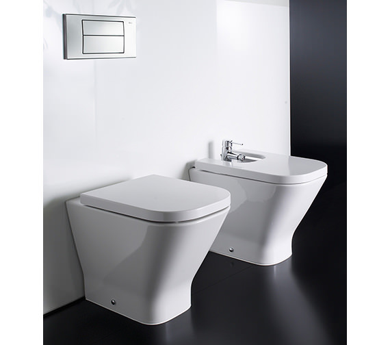 Roca The Gap Moulded Floor Standing Bidet 540mm - 357477000