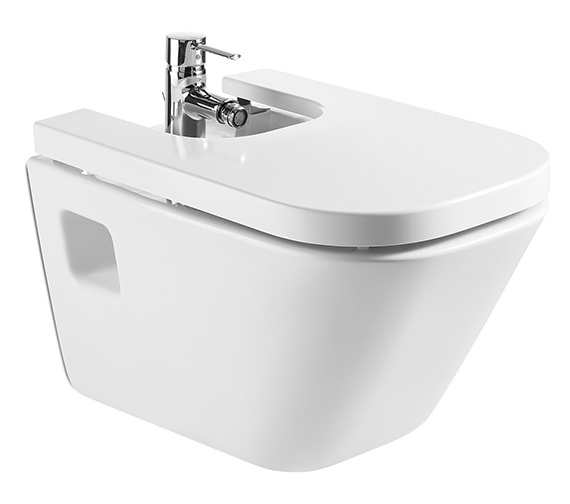 Roca The Gap White Wall Hung Bidet 540mm - 357475000