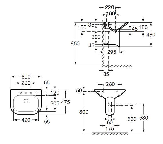 Technical drawing QS-V55565 / 327641000