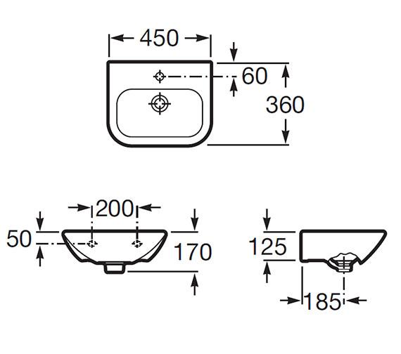 Technical drawing QS-V55568 / 327643000