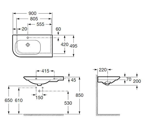 Technical drawing QS-V55571 / 327648000