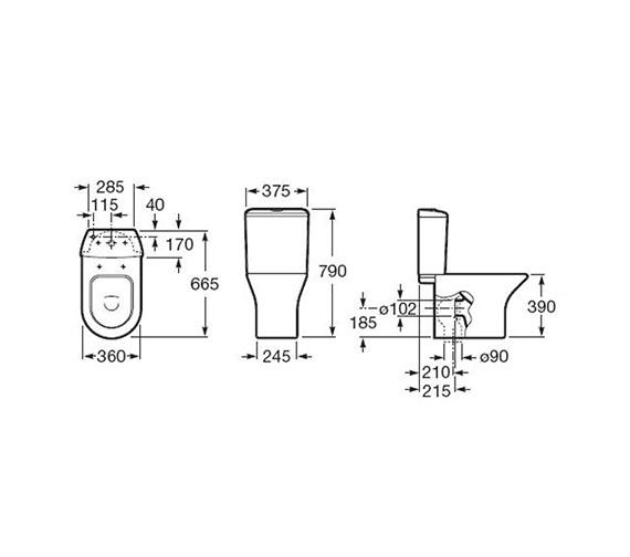 Technical drawing QS-V55572 / 342640000