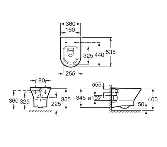 Technical drawing QS-V55575 / 346640000