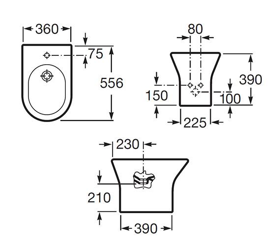 Technical drawing QS-V55576 / 357640000