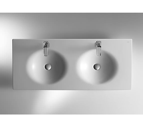 Image 3 of Roca Kalahari Double Vanity Basin 1200mm x 510mm - 327896000