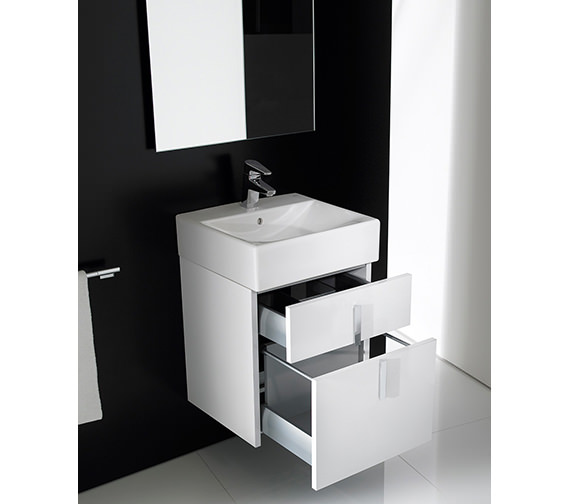 Additional image of Roca Diverta Base Unit And Basin 470mm Wide - 856460006