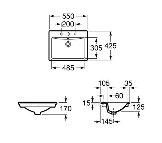 Technical drawing QS-V55668 / 327116000