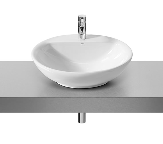 Roca Fontana White On Countertop Basin 600mm Wide - 327877000