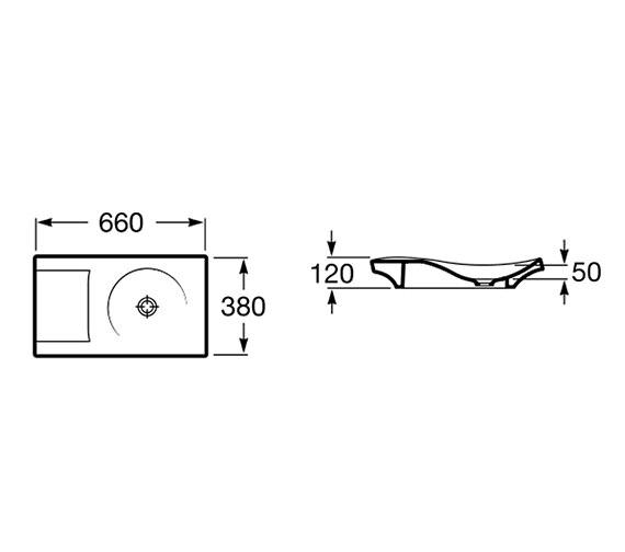 Technical drawing QS-V55703 / 327226000