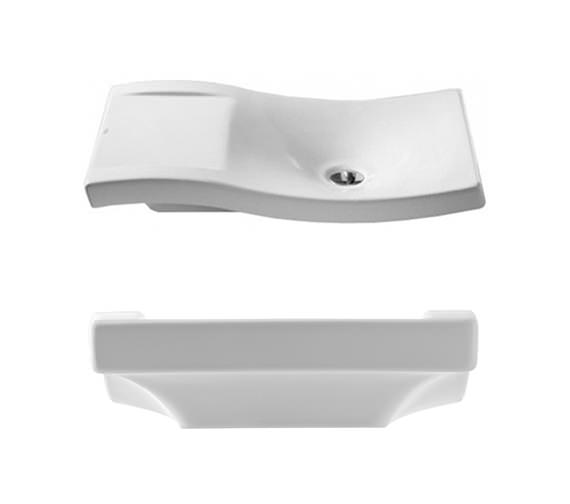 Additional image of Roca Urbi 2 On Countertop Basin 660mm Wide - 327226000