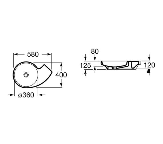 Technical drawing QS-V55704 / 327228000