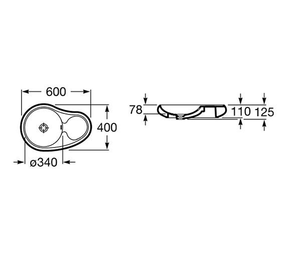Technical drawing QS-V55708 / 327227000