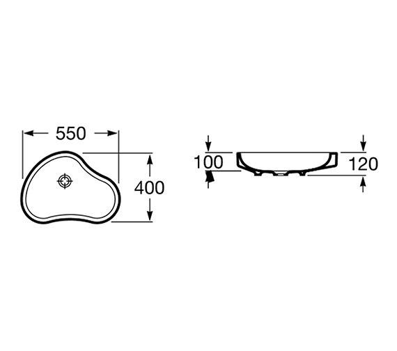 Technical drawing QS-V55709 / 32722A000