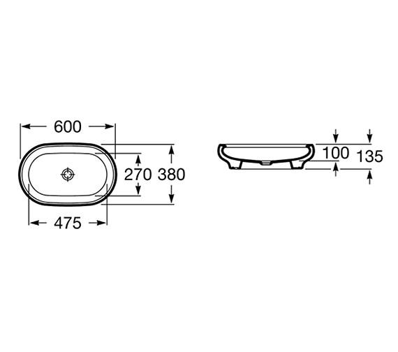 Technical drawing QS-V55711 / 327221000