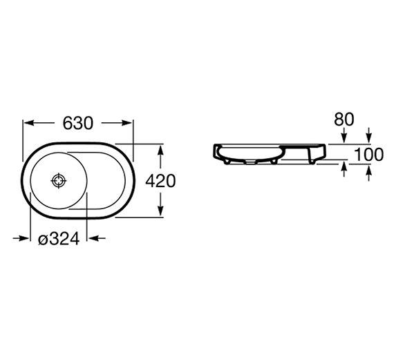 Technical drawing QS-V55713 / 327223000