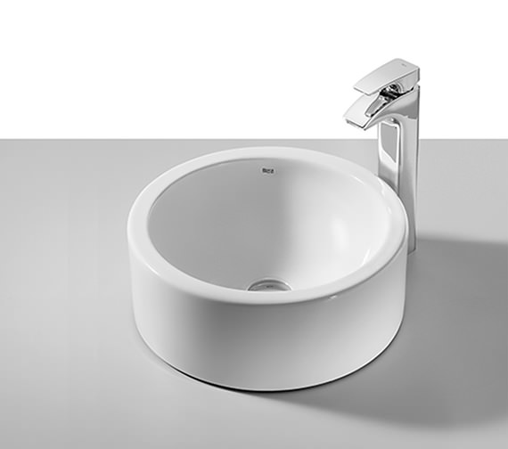 Roca Terra White On Countertop Basin 390mm Dia - 32722D000