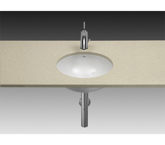 Roca Foro White Under Countertop Basin 410mm Dia - 327884000