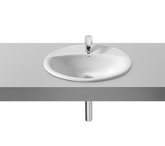 Roca Java White In Countertop Basin 560mm x 475mm - 327863000