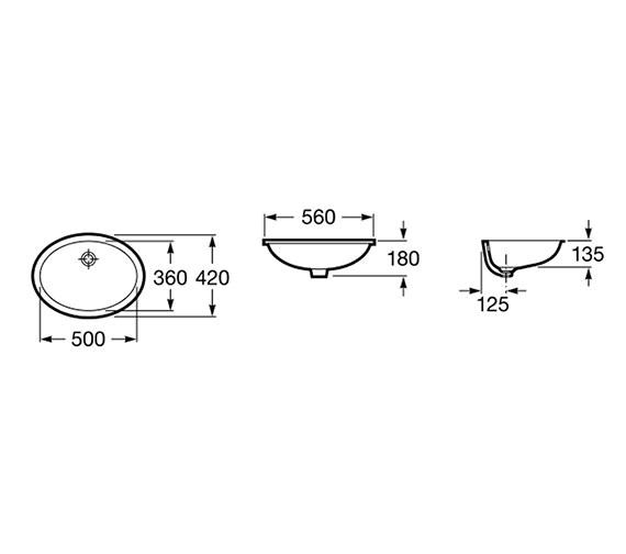 Technical drawing QS-V55721 / 327871001