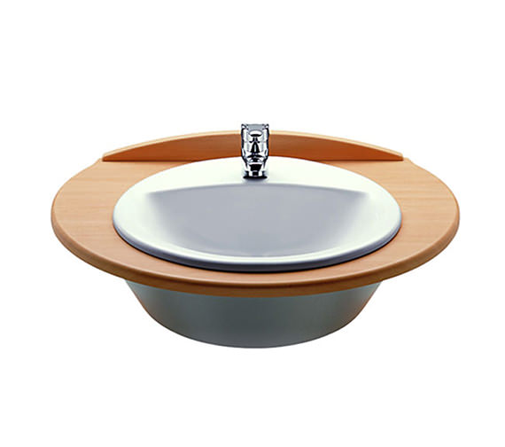 Roca Rodeo White In Countertop Basin 520mm Wide - 327866000