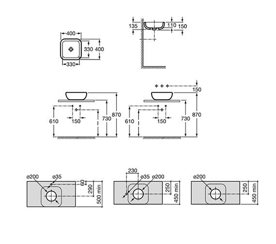 Technical drawing QS-V55773 / 32765G00U