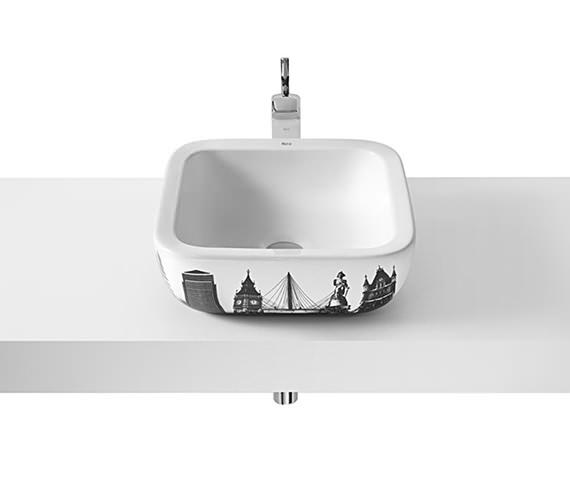 Roca Urban 400mm Basin With London City Design - Barcelona - Berlin - New York - Rio De Janeiro - Shanghai City Design Available