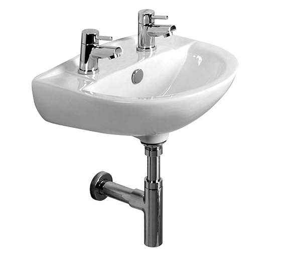 Tavistock Micra 450mm 2 Tap Hole Ceramic Basin - DB145S