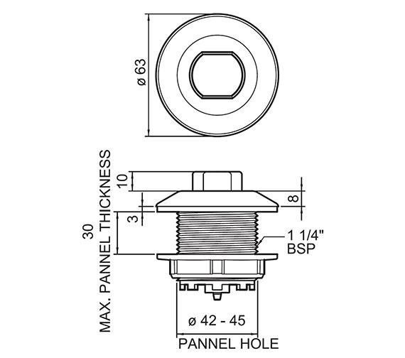 Technical drawing QS-V55843 / 38488000