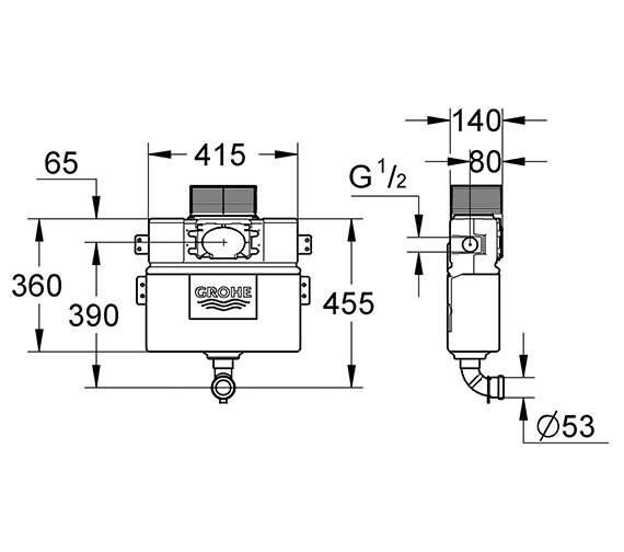Technical drawing QS-V55848 / 38422000