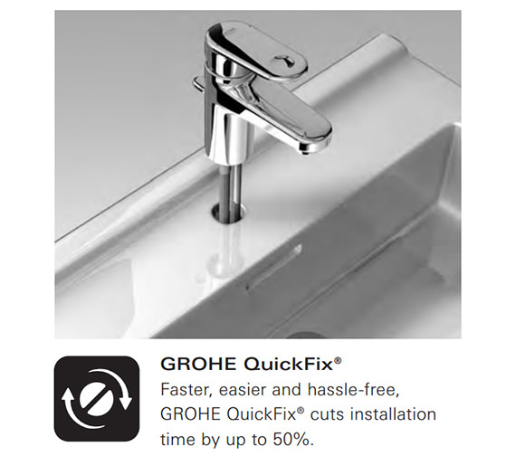 Alternate image of Grohe Eurosmart Chrome Basin Mixer Tap