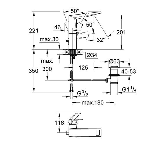 Technical drawing QS-V55853 / 23109000