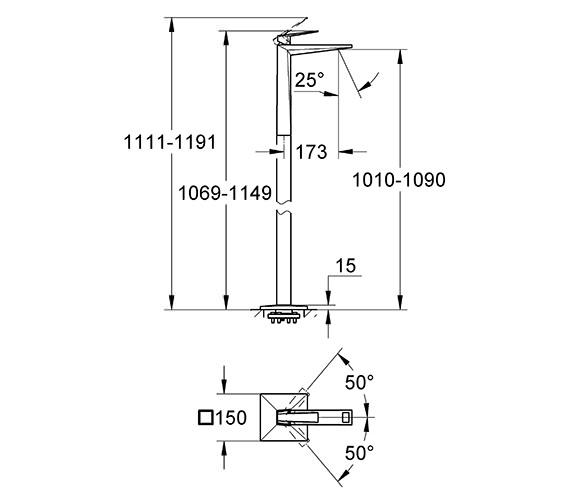 Technical drawing QS-V55855 / 23116000