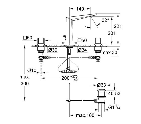 Technical drawing QS-V55857 / 20344000