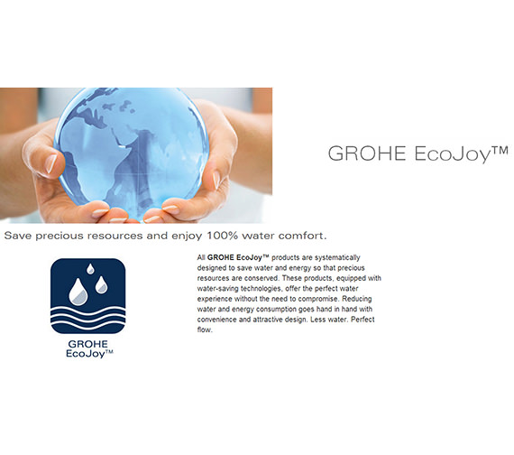 Additional image of Grohe Eurostyle S-Size Basin Mixer Tap With Pop Up Waste Moon White