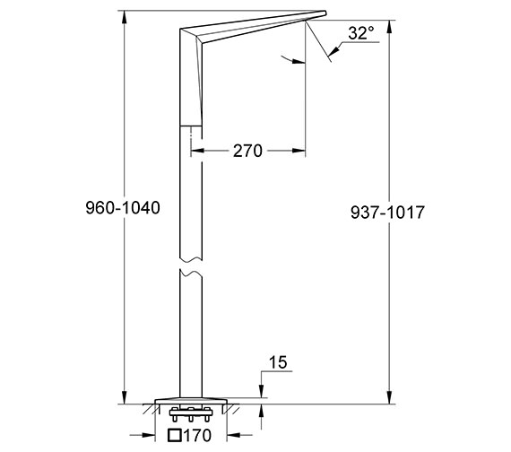 Technical drawing QS-V55863 / 13301000