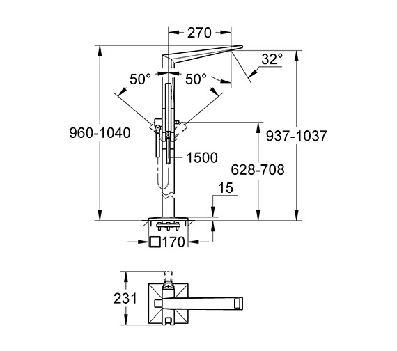 Technical drawing QS-V55864 / 23119000