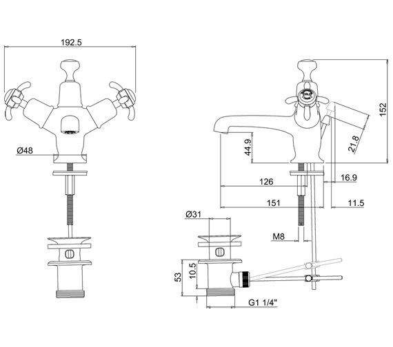 Technical drawing QS-V55899 / AN4