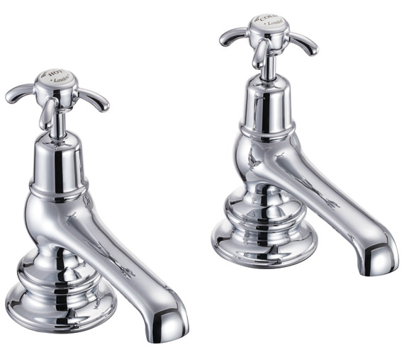 Burlington Anglesey Regent Bath Taps Chrome Plated - ANR3