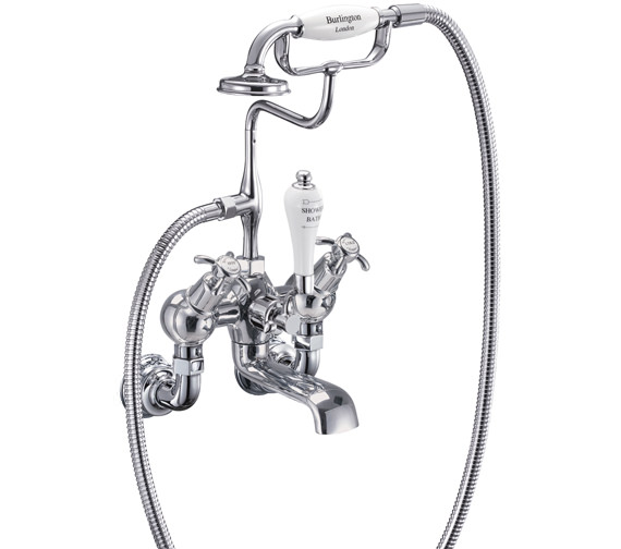 Anglesey Regent Angled Wall Mounted Bath Shower Mixer Tap - ANR21